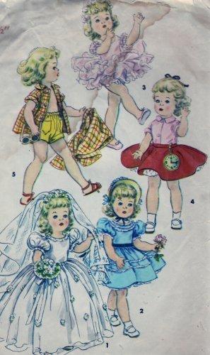 """Simplicity #4909 14.5"""" Toni Walker Doll Wardrobe Pattern from 1954"""