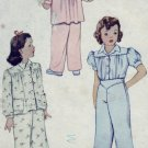 McCall #5156 Little Girl's Sz 2 Pajamas Pattern c. 1943