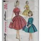 Simplicity #1737 Girls Dress Pattern Size 10 c.1956