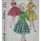Simplicity #1253 Girls Sz 8 Dress Pattern from 1954