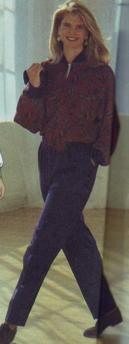 Simplicity #9869 Christie Brinkley Bombadier Style Jacet &Pants Pattern Sizes 10-14-16