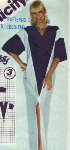 Simplicity#9919 Color Block Print Caftan