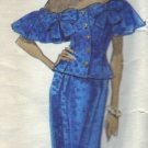 Vogue Pattern #2409 Albert Nipon Drop Shoulder Dress Sizes 12-14-16