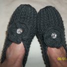 Women's Gray Hand Knitted Slippers