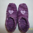 Women's Purple Heart Knitted Slippers
