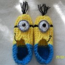Minion Despicable Me Knitted Slippers