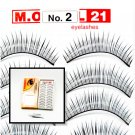 False Fake Eye Lashes Style No. 2 - 10 Pairs of 100% Human Hair Lashes with tube of Glue