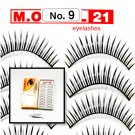 False Fake Eye Lashes Style No. 9 - 10 Pairs of 100% Human Hair Lashes with tube of Glue