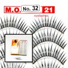 False Fake Eye Lashes Style No. 32 - 10 Pairs of 100% Human Hair Lashes with tube of Glue