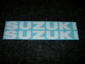 SUZUKI GSX-R GSX-F GSF KATANA GS RM-Z DR DR-Z FUEL TANK DECALS WHITE12/13/16
