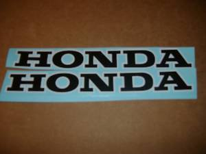 HONDA CR MR SL XL XR CL GL ATV ATC FUEL TANK DECALS BLACK/WHITE TRIM6