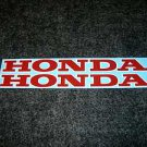 HONDA ATC CB CBR CL CR CRF MR SL XL XR CIVIC ACCORD DECALS RED W WHITE TRIM6