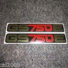 SUZUKI 1977 1978 1979 GS750E GS-750E GS750 GS-750 SIDE COVER DECAL MIRROR GOLD