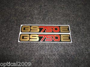SUZUKI 1977 1978 1979 GS750E GS-750E GS750 GS-750 SIDE COVER DECAL
