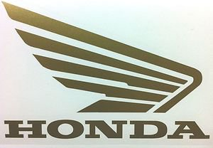 HONDA CB CBR CBRR 919 929 954 996 CR XL XR SHADOW FUEL TANK WING DECALS GOLD512