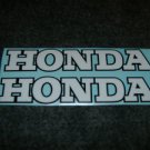 HONDA CB CL CJ CBR CBR-RR CR MR MT SL XL XR  FUEL TANK DECALS WHITE BLACK TRIM6