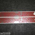 HONDA PRO-LINK TRX CR CRF XL XR TL CBRR SWING ARM DECAL BRI/RED SILVER TRIM XSM7