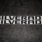 Chevrolet SILVERADO NAME Decal Sticker BLACK