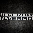 Chevrolet SILVERADO NAME Decal Sticker MATTE BLACK