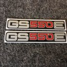 SUZUKI 1977 1978 1979 1980 1981 GS550E GS-550E GS-550 SIDE COVER DECAL SILVER