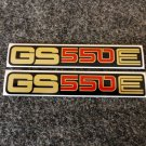 SUZUKI 1977 1978 1979 1980 1981 GS550E GS-550E GS550 GS-550 SIDE COVER DECAL