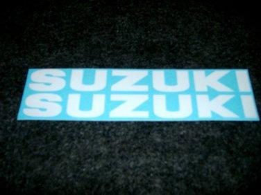 SUZUKI 9.9 3.5 140 115 BOAT MOTOR DECALS  OUT BOARD DECALS WHITE834