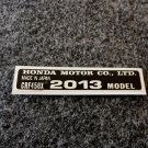 HONDA CRF-450R 2013 MODEL TAG HONDA MOTOR CO., LTD. DECALS