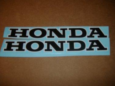 HONDA CB CL CJ CBR CBR-RR CR MR MT SL XL XR  FUEL TANK DECALS BLACK/WHITE TRIM8
