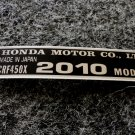 HONDA CRF-450X 2010 MODEL TAG HONDA MOTOR CO., LTD. DECAL