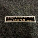 HONDA CRF-150F 2014 MODEL TAG HONDA MOTOR CO., LTD. DECAL