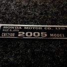 HONDA CRF-250R 2005 MODEL TAG HONDA MOTOR CO., LTD. DECAL
