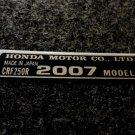 HONDA CRF-250R 2007 MODEL TAG HONDA MOTOR CO., LTD. DECAL