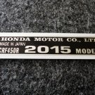 HONDA CRF-450R 2015 MODEL TAG HONDA MOTOR CO., LTD. DECALS