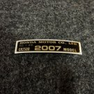 HONDA CR-250R 2007 MODEL TAG HONDA MOTOR CO., LTD. DECALS