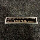 HONDA CRF-150R 2014 MODEL TAG HONDA MOTOR CO., LTD. DECAL