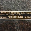 HONDA CR-500R 1994 MODEL TAG HONDA MOTOR CO., LTD. DECALS