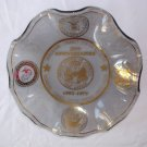 War Office Glass Candy Dish Founding Finance Center Federal Credit Union 20th Anniversaries Vintage