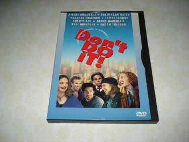 Don't Do It! DVD Starring Alexis Arquette Balthazar Getty