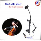 Lapel Instrument Cello Microphone for AKG Samson Wireless System 125mm to 145mm Thickness XLR 3Pin