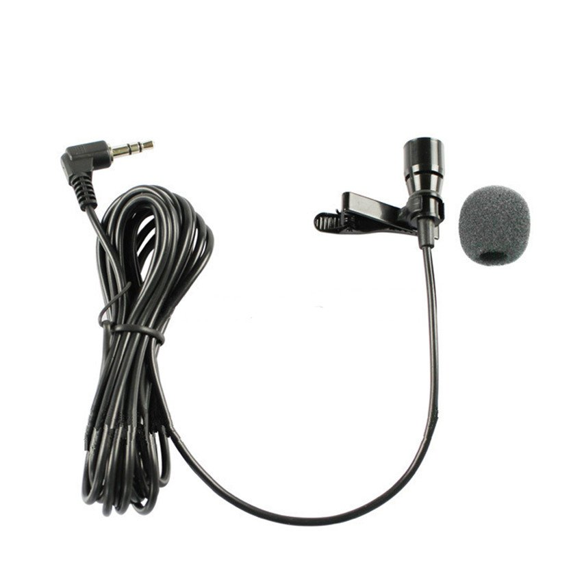High Quality Lapel Condenser Microphone Lavalier Microfone for Driver PC 3.5mm Stereo Jack Line 1.1M