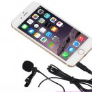 Lapel Stereo Condenser Mobile Phone Microphone for iPhone for Samsung etc Phone 3.5mm Jack 1.5m Line