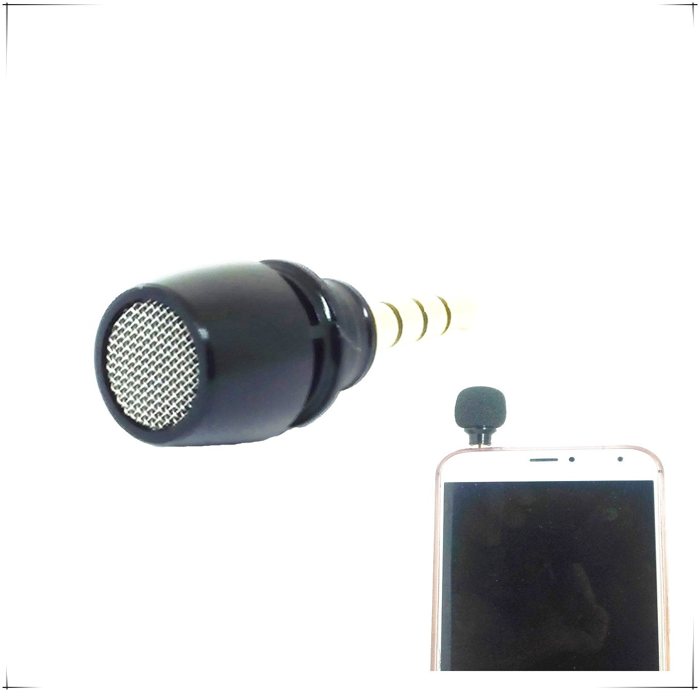 Professional Black Mini Condenser Microphone Mobile Phone Record Mikrofon for iPhone for Samsung