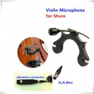 Mini Lapel Violin Condenser Microphone Instrment Microfone for Shure Mic Wireless System XLR Mini