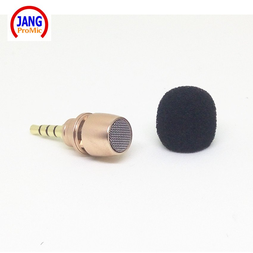 Professional Mobile Phone Microphone Stereo Straight Glod Mini Condenser Microfone for iPhone etc