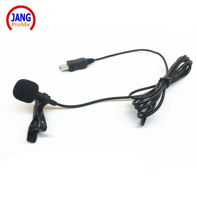 Pro Lapel Condenser Microphone Mini USB External Lavalier Microfone for GoPro Hero 3 3+/4 with USB
