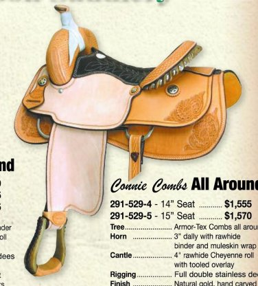 """Billy Cook Connie Combs All Around Saddle 14"""""""