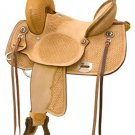 Billy Cook Comanche Highback Barrel Racing Saddle 15""