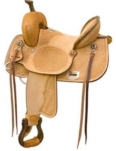 "Billy Cook Comanche Highback Barrel Racing Saddle 15"""