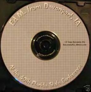 """Ed M """"A new life"""" Alcoholics Anonymous AA talk on CD"""