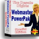 Resale Rights Webmaster PowerPak